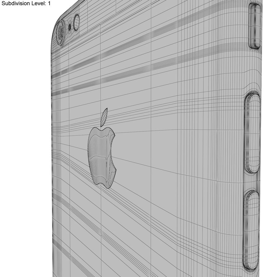 Apple iPhone 6s Plus Space Grey royalty-free 3d model - Preview no. 28