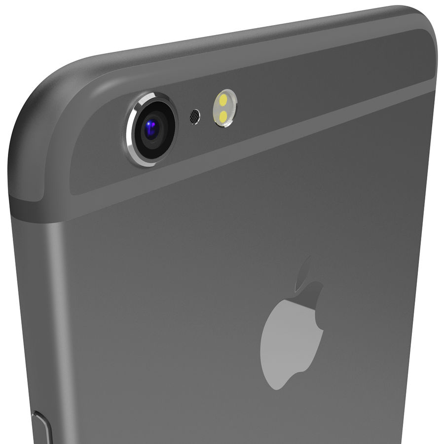 Apple iPhone 6s Plus Space Grey royalty-free 3d model - Preview no. 8