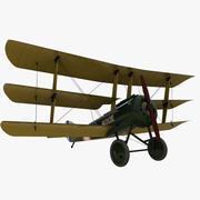 三翼飞机 3d model