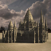 Neogothic cathedral 3d model