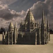 Neogotische kathedraal 3d model