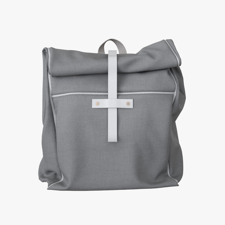 Backpack Canvas Bag royalty-free 3d model - Preview no. 3