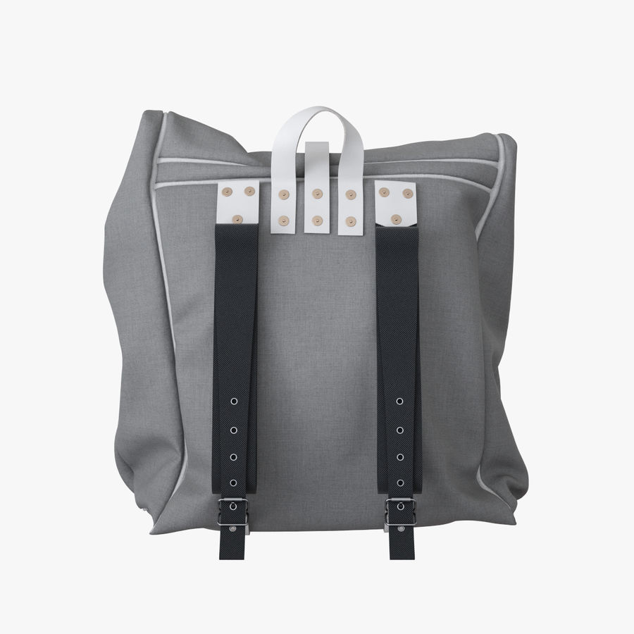 Backpack Canvas Bag royalty-free 3d model - Preview no. 6
