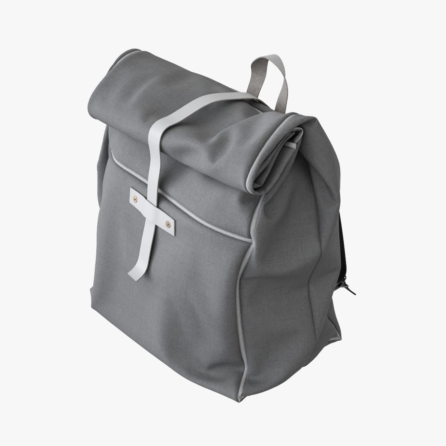 Backpack Canvas Bag royalty-free 3d model - Preview no. 1