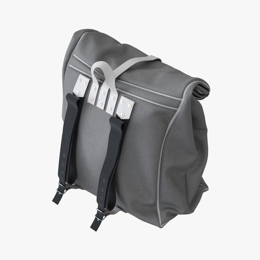 Backpack Canvas Bag royalty-free 3d model - Preview no. 5