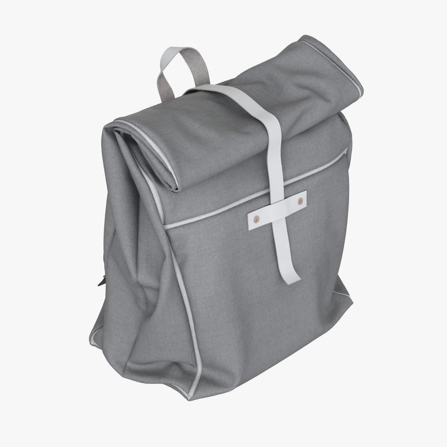 Backpack Canvas Bag royalty-free 3d model - Preview no. 4