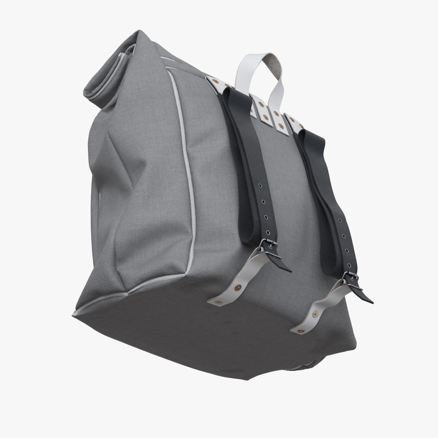 Backpack Canvas Bag royalty-free 3d model - Preview no. 7