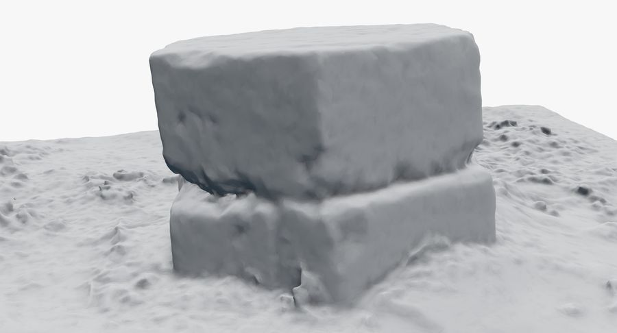 Каменная трава 3d Scan royalty-free 3d model - Preview no. 35