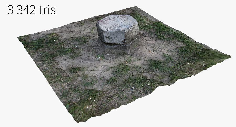 Каменная трава 3d Scan royalty-free 3d model - Preview no. 21