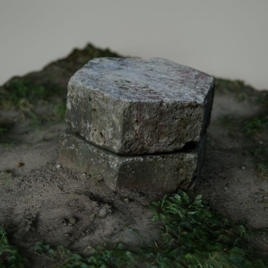 Каменная трава 3d Scan royalty-free 3d model - Preview no. 6