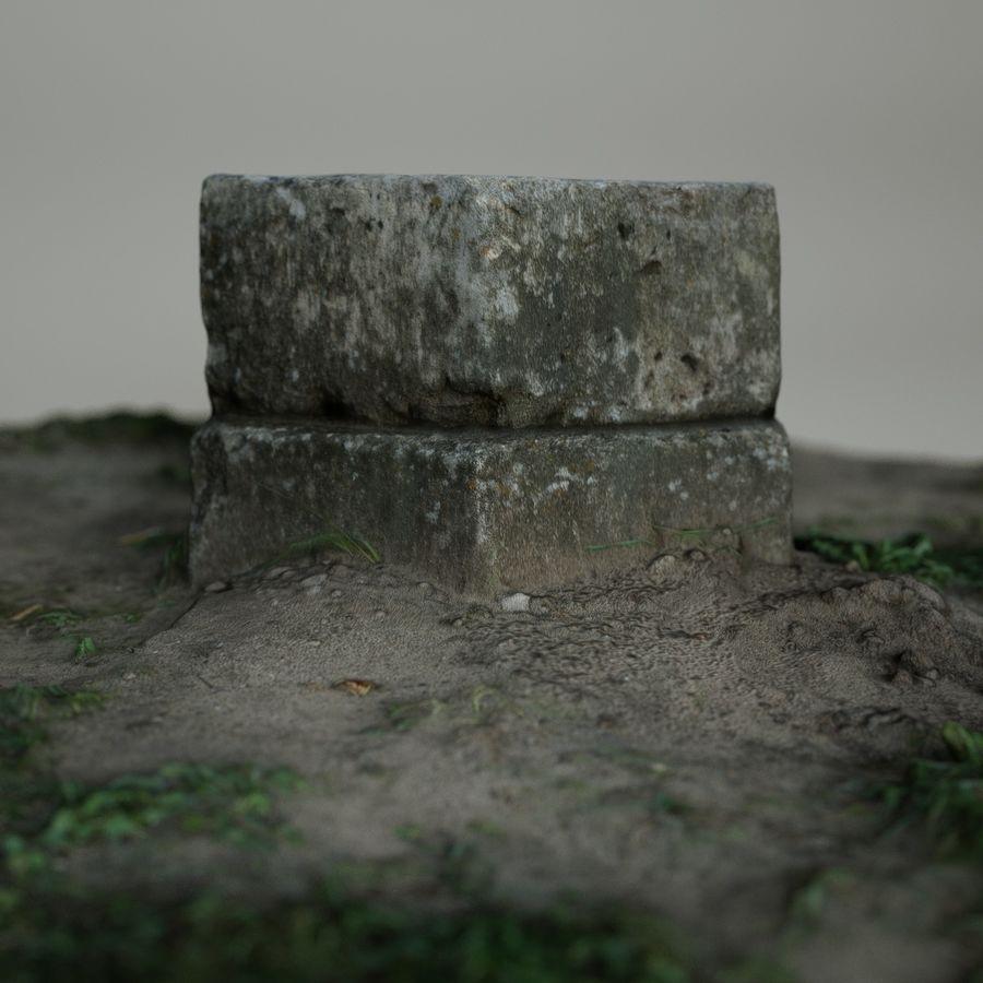 Каменная трава 3d Scan royalty-free 3d model - Preview no. 7