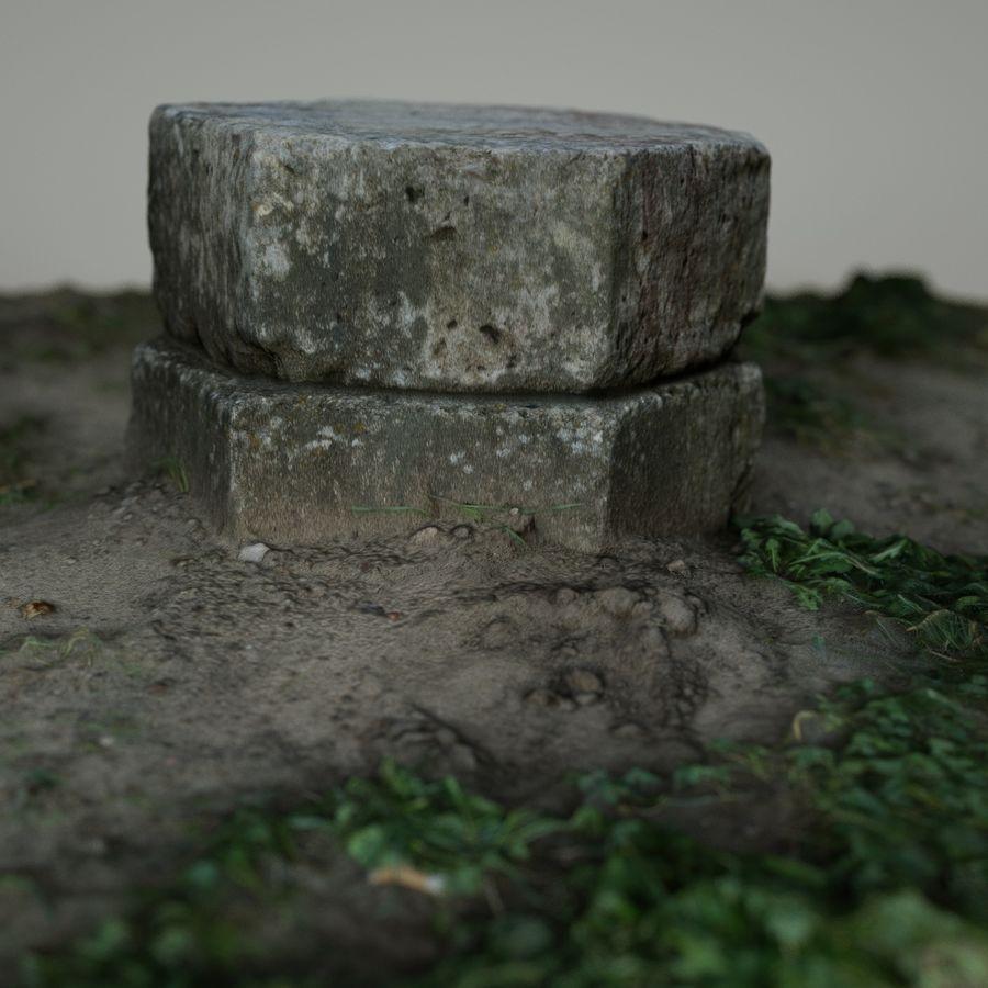 Каменная трава 3d Scan royalty-free 3d model - Preview no. 15