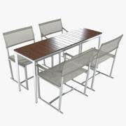B&B Mitro Outdoor Dining Table & Chair Set 3d model