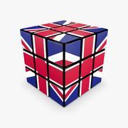 Rubik Cube - UK 3d model