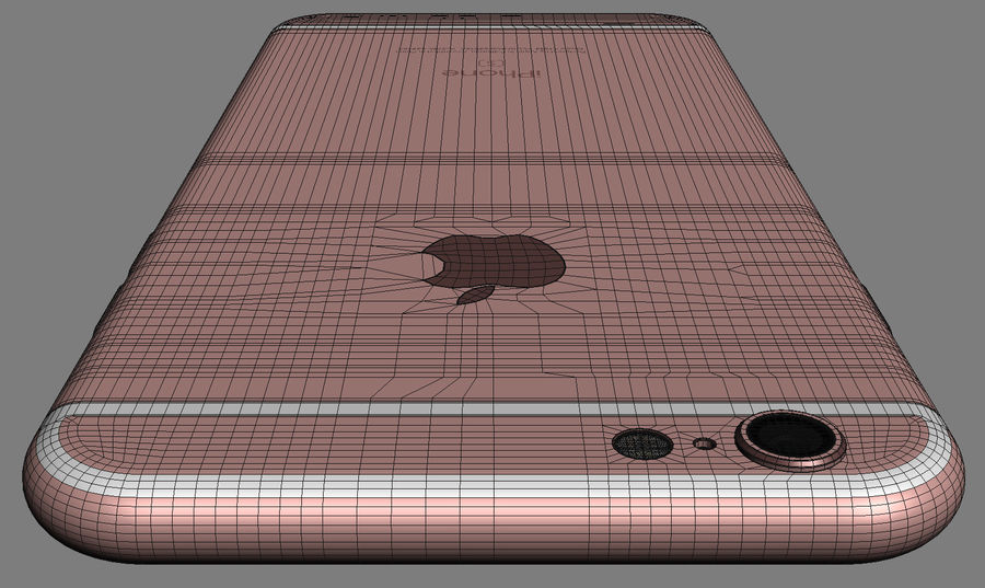 iPhone 6S Rose Gold royalty-free 3d model - Preview no. 11