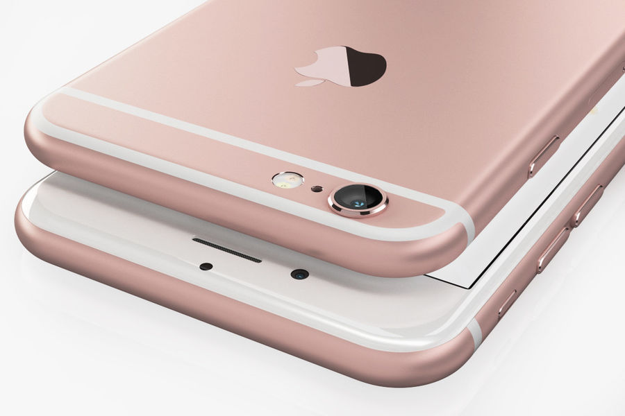 iPhone 6S Rose Gold royalty-free 3d model - Preview no. 5