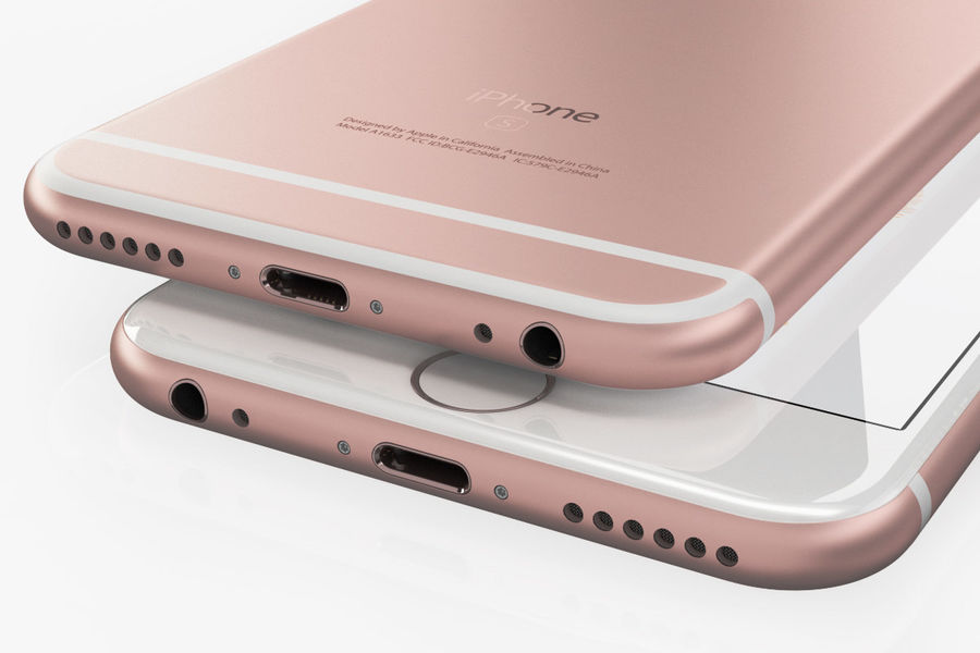iPhone 6S Or Rose royalty-free 3d model - Preview no. 4