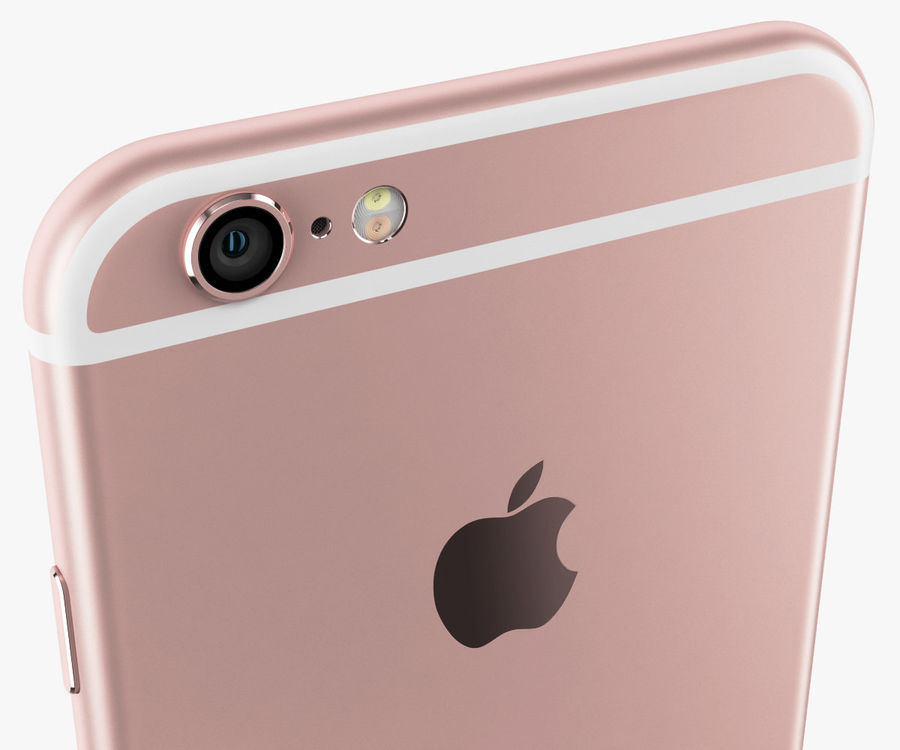 iPhone 6S Rose Gold royalty-free 3d model - Preview no. 8