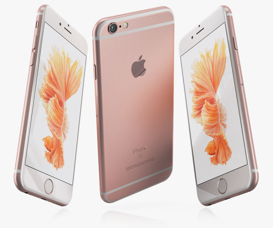 iPhone 6S Rose Gold royalty-free 3d model - Preview no. 6