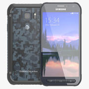 Samsung Galaxy S6 Active Blue 3d model