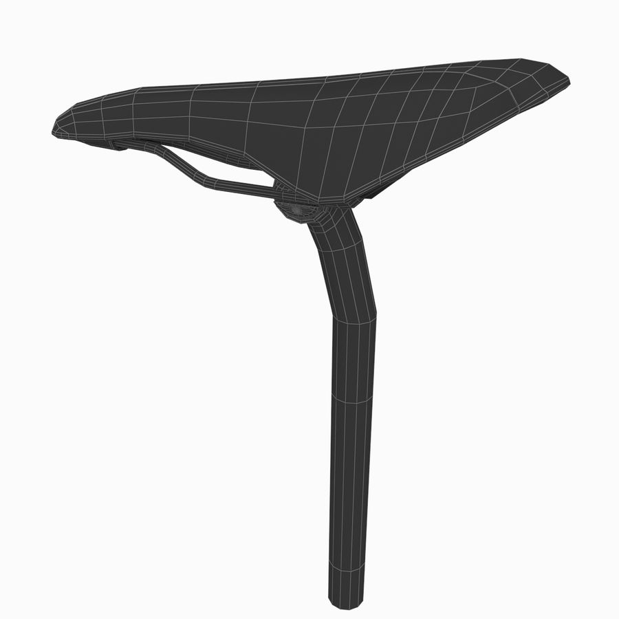 Cycling Bicycle Saddle royalty-free 3d model - Preview no. 8