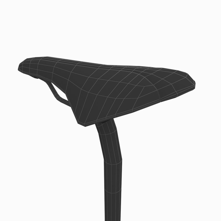 Cycling Bicycle Saddle royalty-free 3d model - Preview no. 6