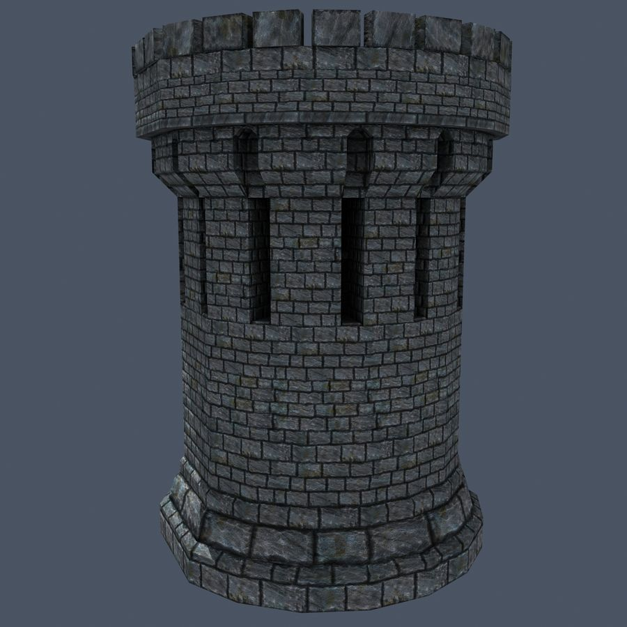 Mittelalterlicher Fantasy Castle Tower_05 royalty-free 3d model - Preview no. 6