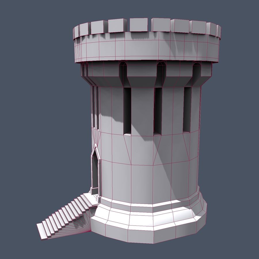 Medieval Fantasy Castle Tower_05 royalty-free 3d model - Preview no. 18