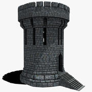 Medieval Fantasy Castle Tower_05 3d model