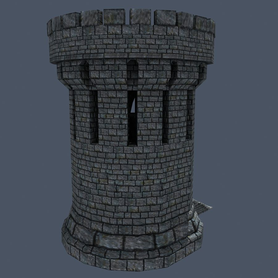Mittelalterlicher Fantasy Castle Tower_05 royalty-free 3d model - Preview no. 7