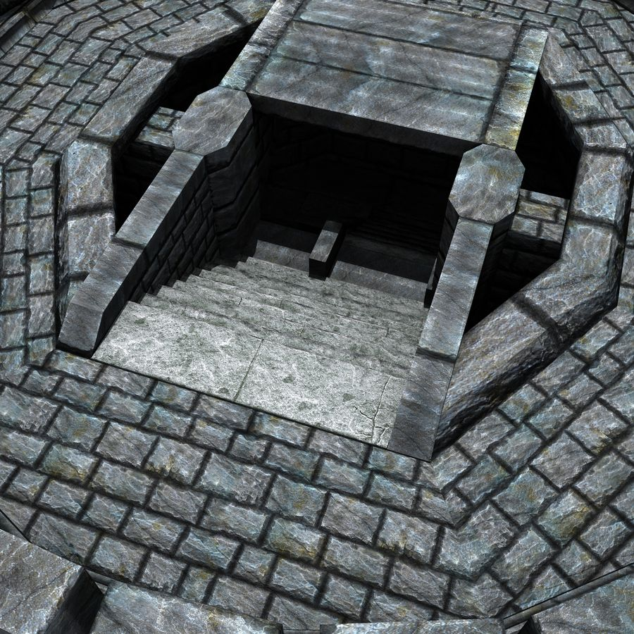 Mittelalterlicher Fantasy Castle Tower_05 royalty-free 3d model - Preview no. 9