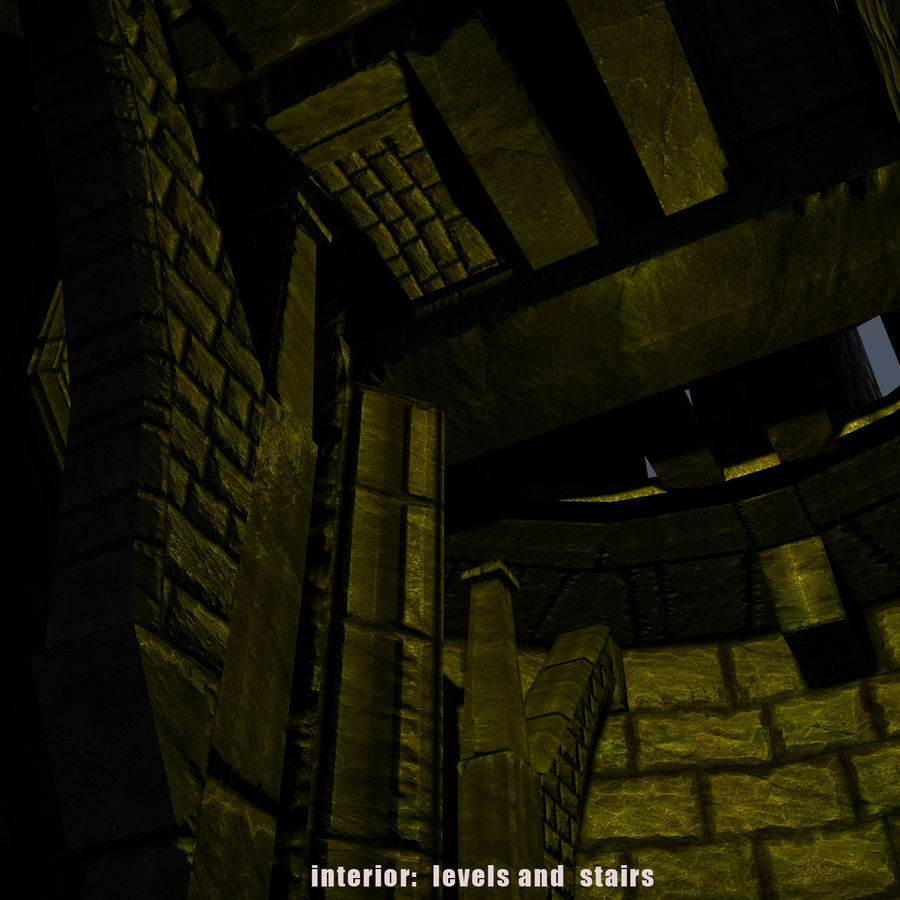 Mittelalterlicher Fantasy Castle Tower_05 royalty-free 3d model - Preview no. 12