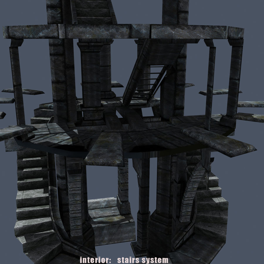 Mittelalterlicher Fantasy Castle Tower_05 royalty-free 3d model - Preview no. 14