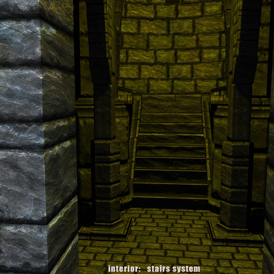 Mittelalterlicher Fantasy Castle Tower_05 royalty-free 3d model - Preview no. 11