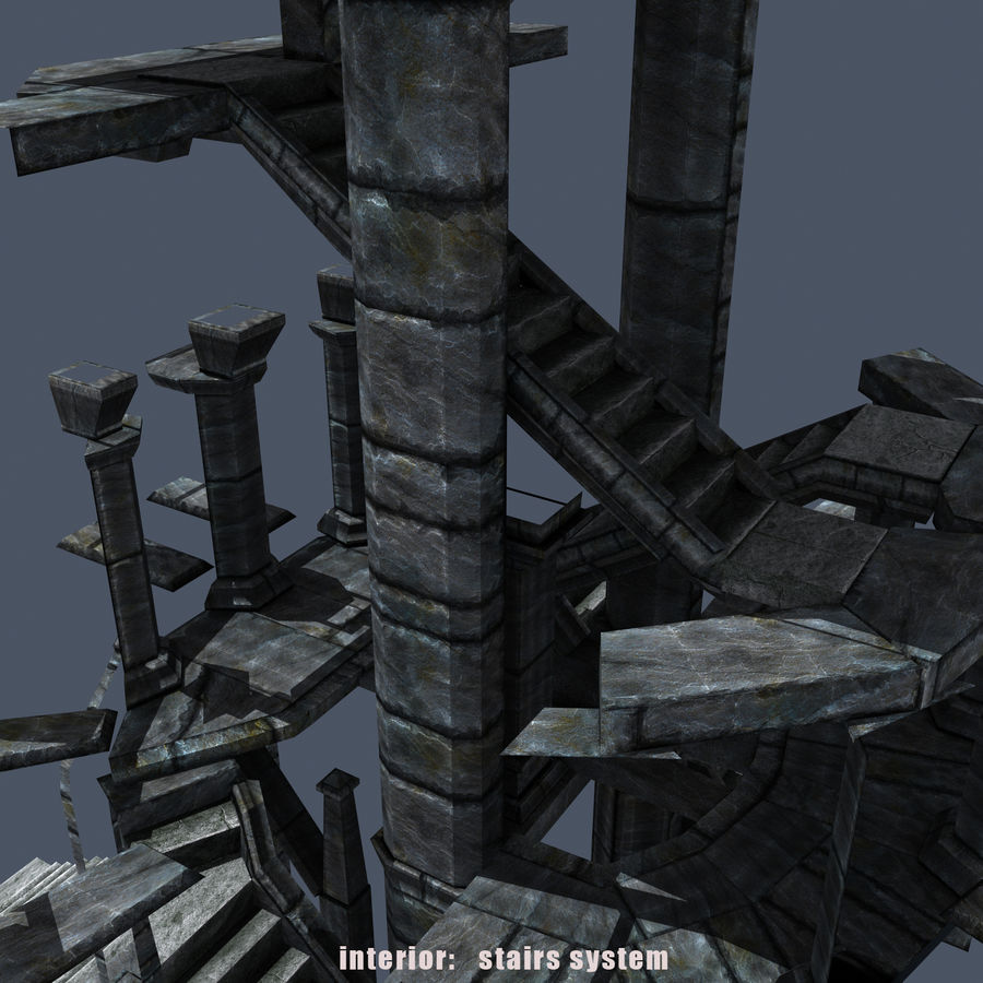Medieval Fantasy Castle Tower_05 royalty-free 3d model - Preview no. 13