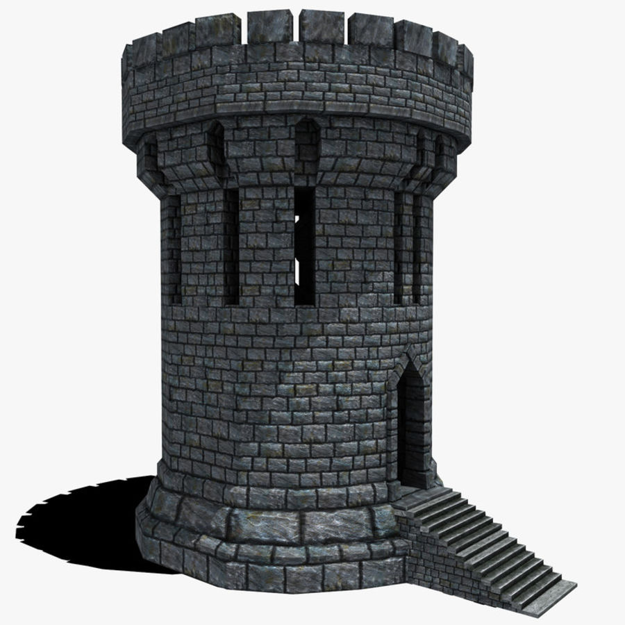 Mittelalterlicher Fantasy Castle Tower_05 royalty-free 3d model - Preview no. 1