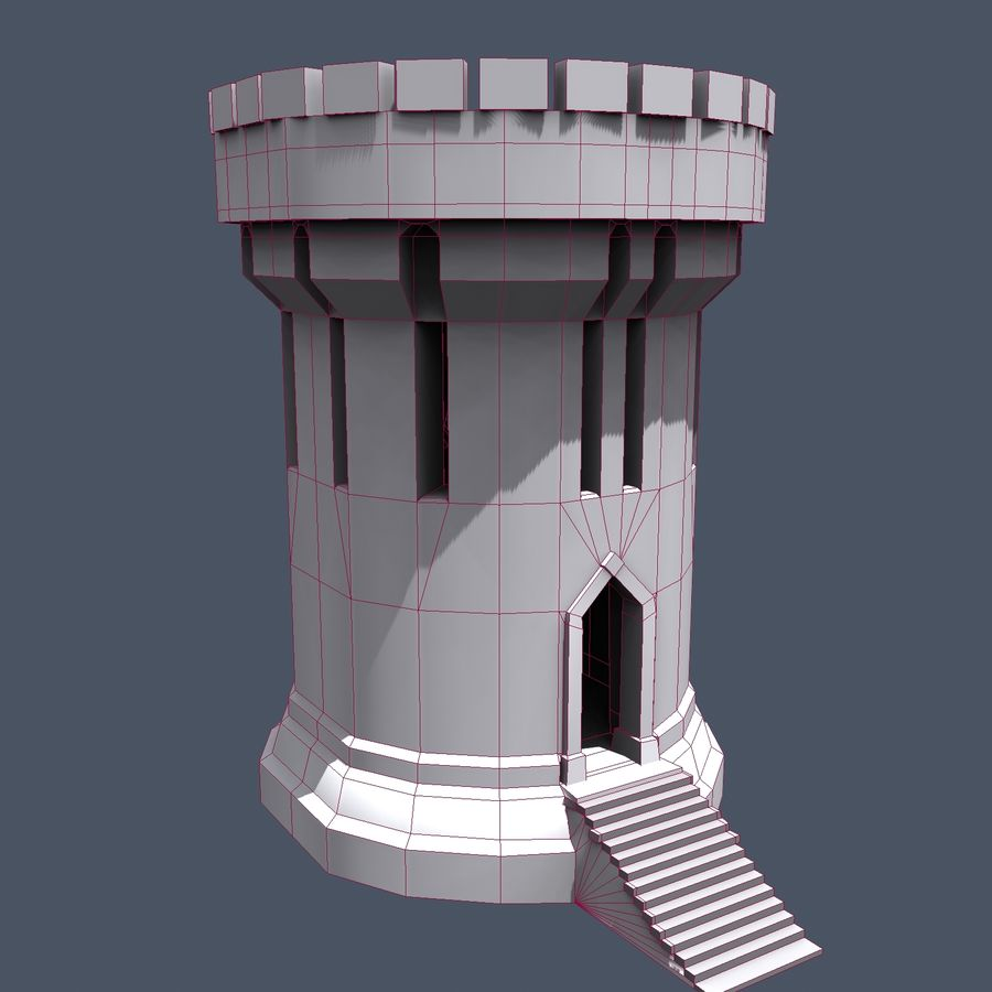 Medieval Fantasy Castle Tower_05 royalty-free 3d model - Preview no. 17