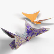Origami Rigged Butterfly 3d model