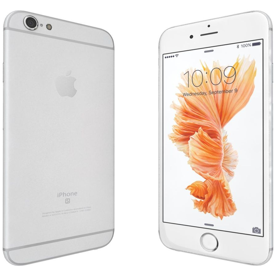 Apple iPhone 6s Plus Prateado royalty-free 3d model - Preview no. 7