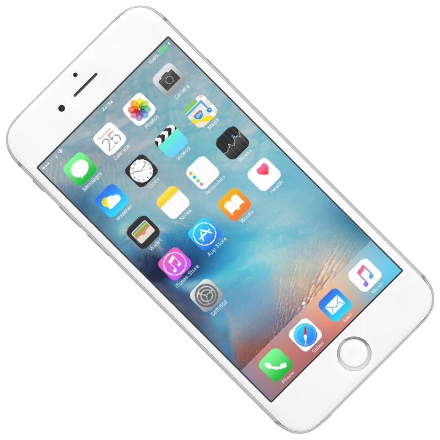 Apple iPhone 6s Plus Prateado royalty-free 3d model - Preview no. 16
