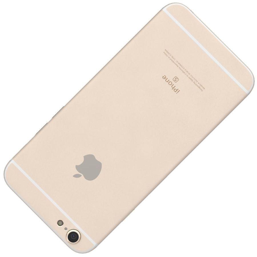 Apple iPhone 6s Artı Altın royalty-free 3d model - Preview no. 23