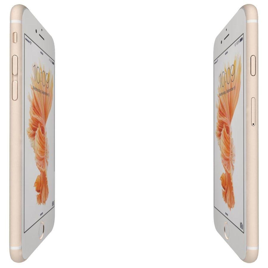Apple iPhone 6s Artı Altın royalty-free 3d model - Preview no. 11