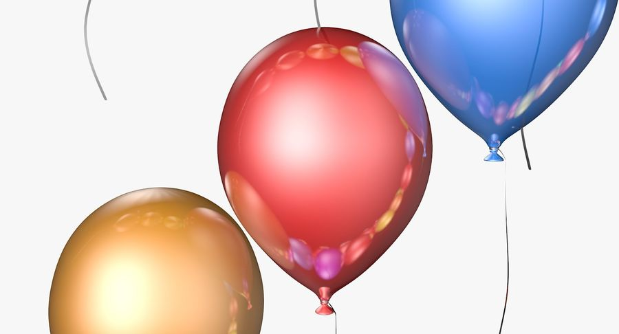 Balloons - 21 Today royalty-free 3d model - Preview no. 4