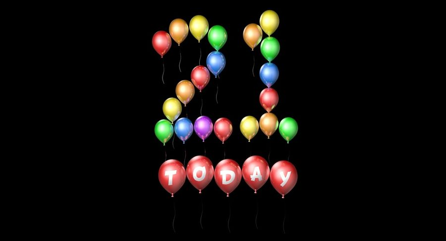 Balloons - 21 Today royalty-free 3d model - Preview no. 3