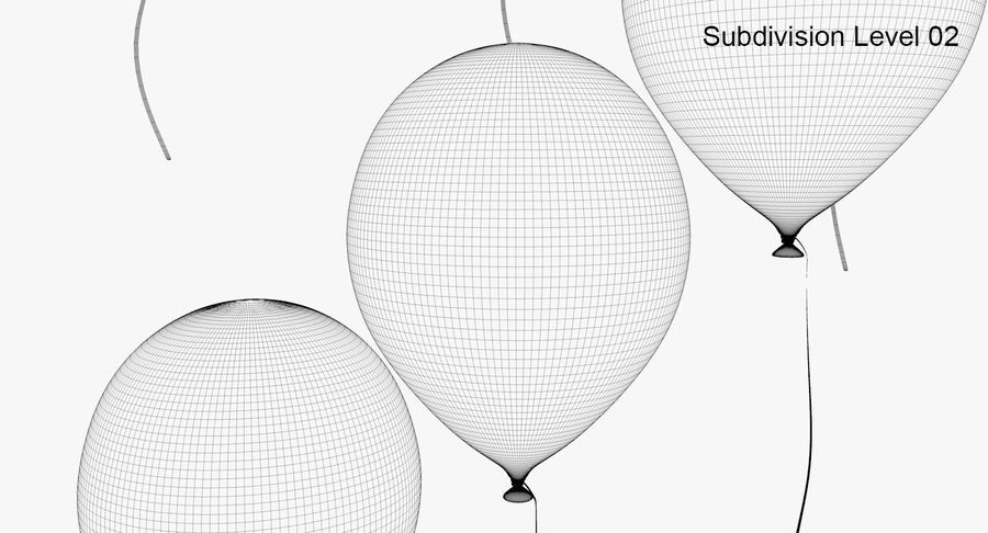 Balloons - 21 Today royalty-free 3d model - Preview no. 12