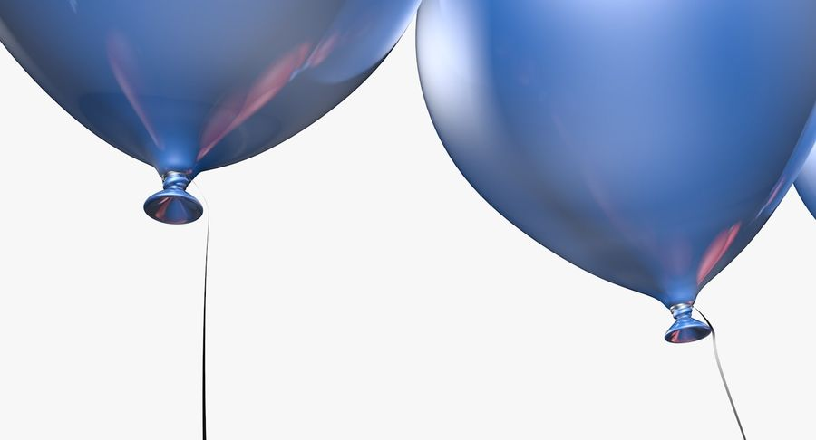 Balloons - 21 Today royalty-free 3d model - Preview no. 6