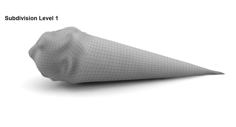 Cono gelato royalty-free 3d model - Preview no. 7