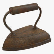 Vintage Clothes Iron 3D-Modell 3d model