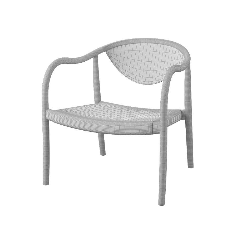 椅子PP911-Hans Wegner royalty-free 3d model - Preview no. 9