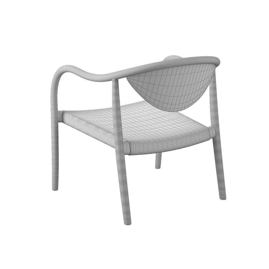 椅子PP911-Hans Wegner royalty-free 3d model - Preview no. 10